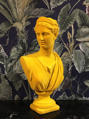 Fabulous Flocked Artemis Bust - Yellow