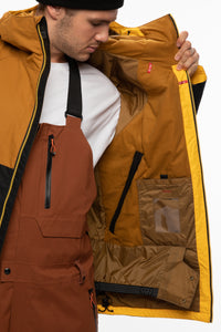 686 Static Insulated Jacket golden brown colorblock