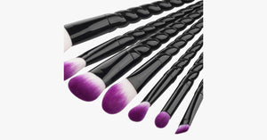 Pro Black Unicorn Brush Set - FREE SHIP DEALS