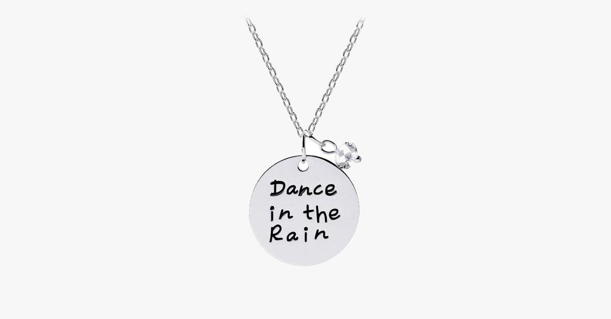 Charm pendant: Dance in the rain - FREE SHIP DEALS