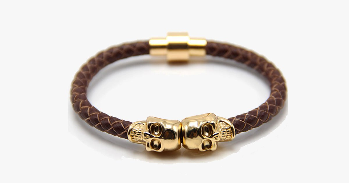 Magnetic Skull Bracelet - FREE SHIP DEALS
