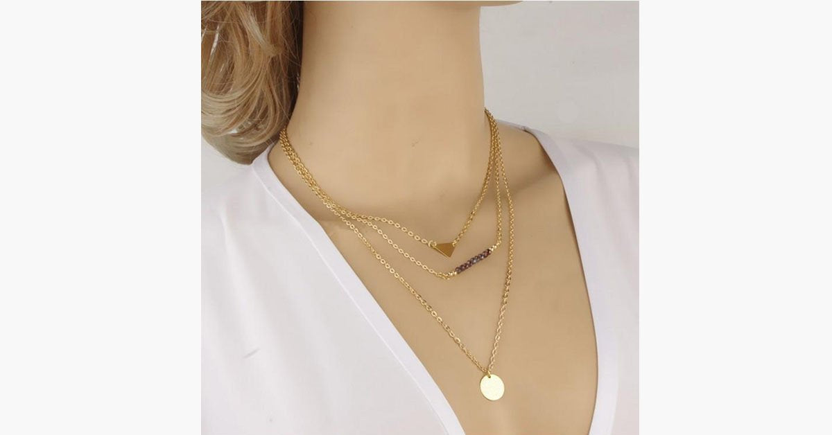 Imitation Crystal Bar Necklace - FREE SHIP DEALS
