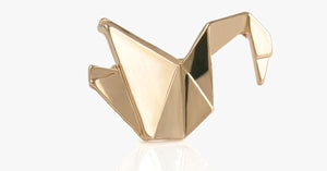 Golden Crane Origami Pin - FREE SHIP DEALS