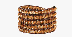 Golden Crystal Wrap Bracelet - FREE SHIP DEALS