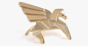 Golden Pegasus Origami Pin - FREE SHIP DEALS