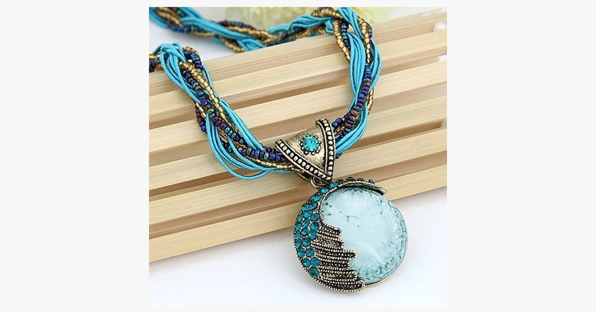 Bohemian Gemstone Pendant - FREE SHIP DEALS