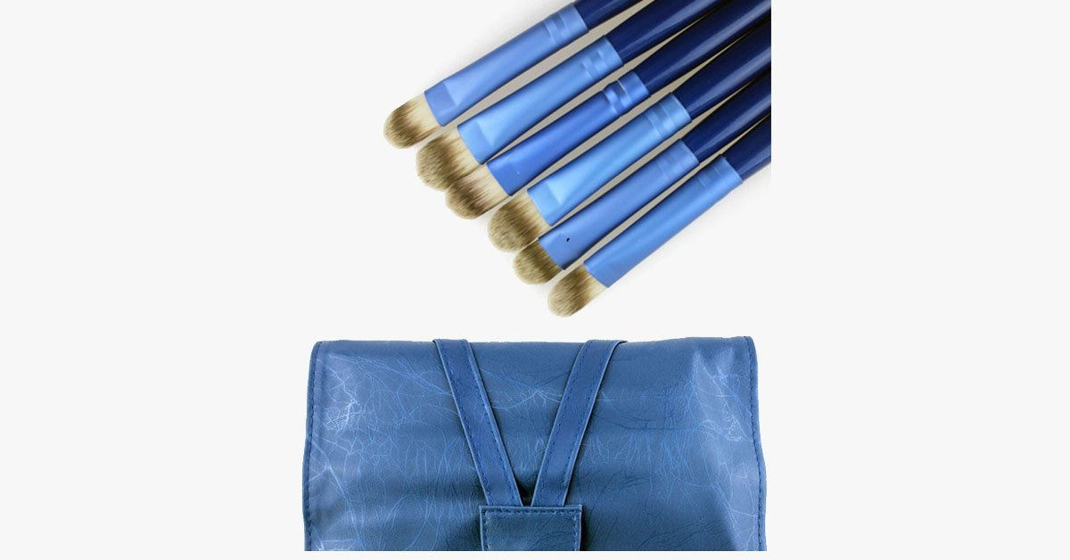 Ocean Blue 24 Piece Brush Set - FREE SHIP DEALS