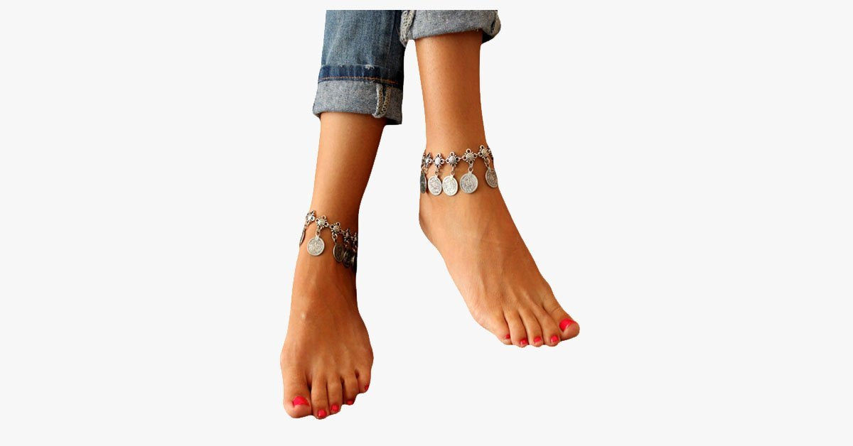 Bohemian Tassel Metal Coins Anklet - FREE SHIP DEALS