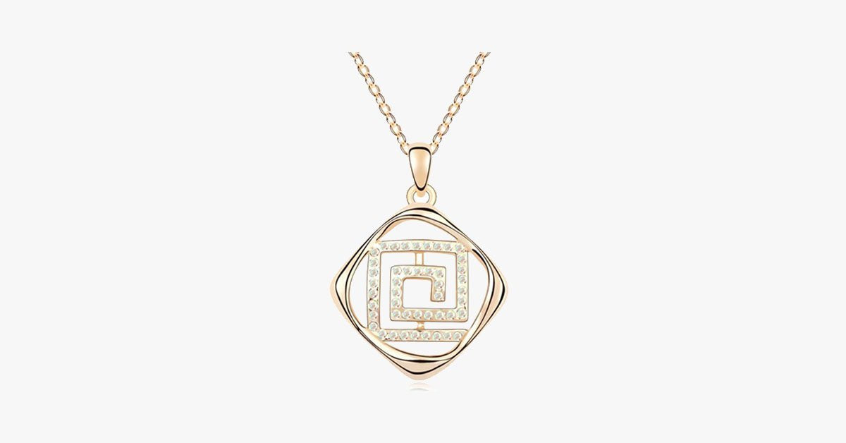 Florence Crystal Maze Pendant - FREE SHIP DEALS