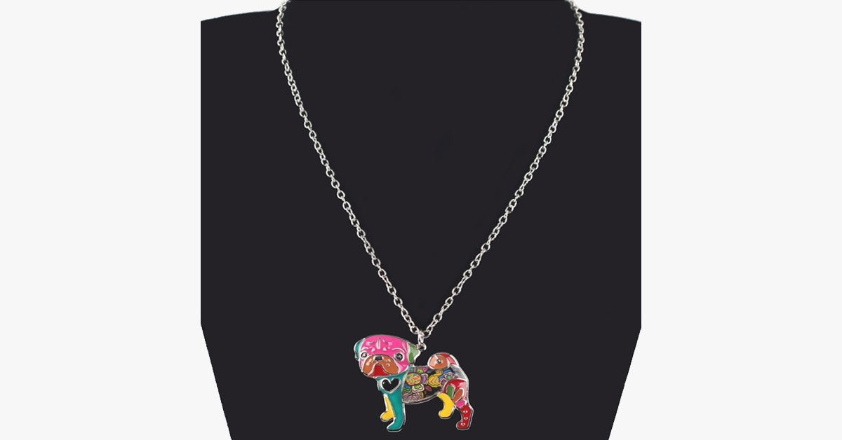 Pug Dog Pendant Necklace - FREE SHIP DEALS