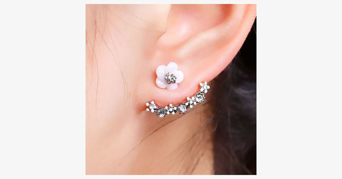 Flower Crystal Stud Earrings - FREE SHIP DEALS