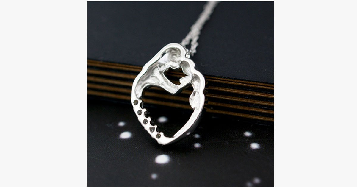 Mother Baby Love Heart Pendant - FREE SHIP DEALS
