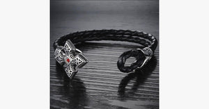 Ruby Cross Men's Bracelet