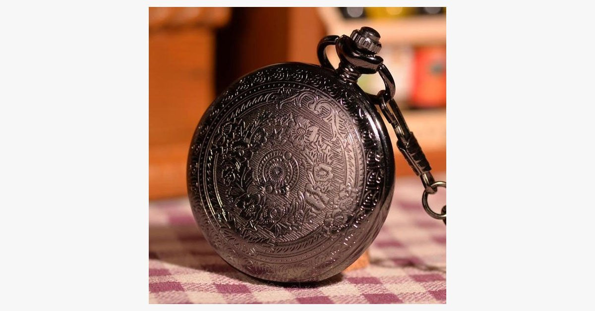Classic Black Pocket Watch - FREE SHIP DEALS