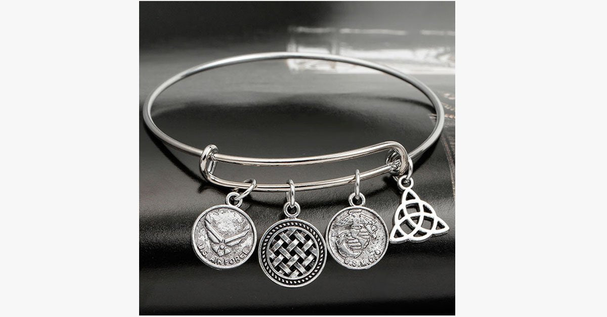Air Force Enchanting Charm Bangle - FREE SHIP DEALS
