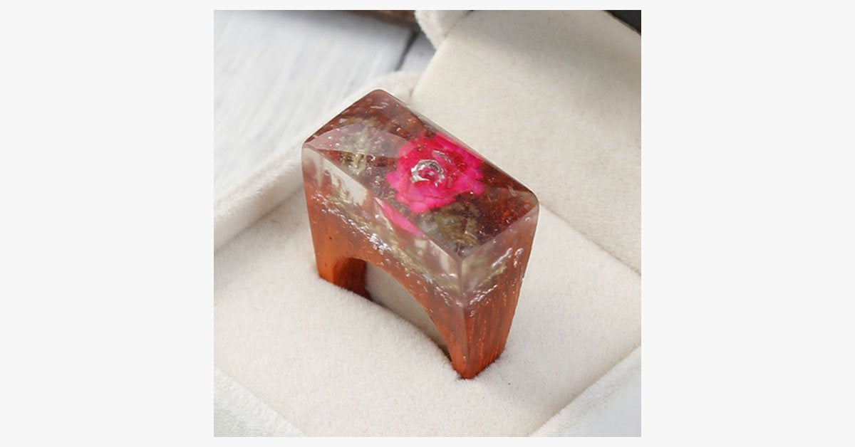 Ethereal Blossom Flower Wood Ring - FREE SHIP DEALS