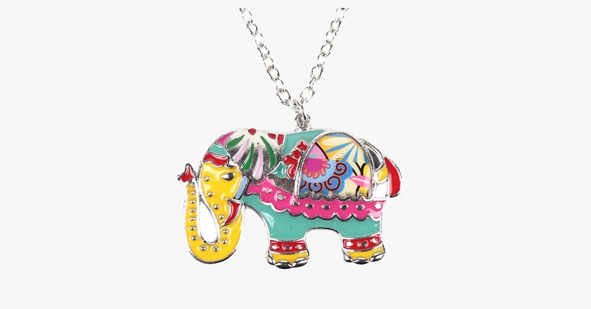Colorful Elephant Pendant Necklace - FREE SHIP DEALS