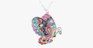 Butterfly Pendant Necklace - FREE SHIP DEALS