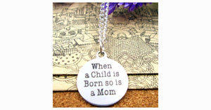 Birth of Child and Mother Necklace - FREE SHIP DEALS
