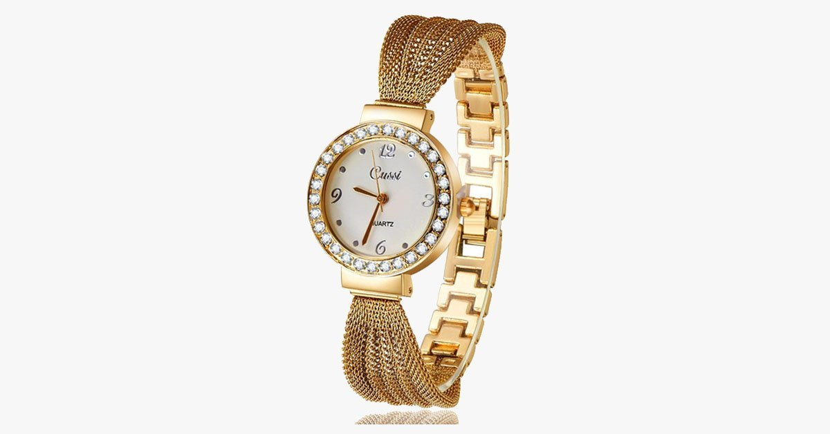 Fancy Gold Plated Watch - FREE SHIP DEALS