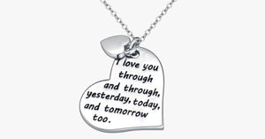 Heart-I Love You Through and Through, Yesterday, Today and Tomorrow Too - FREE SHIP DEALS