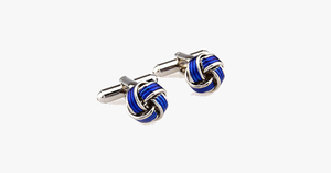 Blue Knot Cufflink - FREE SHIP DEALS