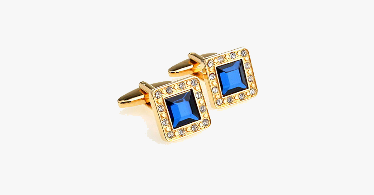 Gold Plated Gemstone Cufflink - FREE SHIP DEALS