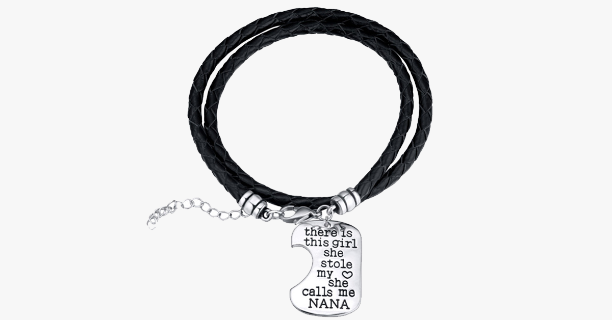 Nana's Girl Hand Stamped Bracelet Set - FREE SHIP DEALS