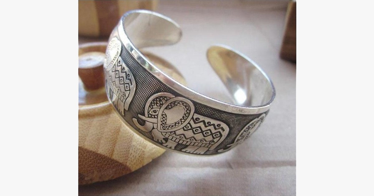 Elephant Cuff Bangle - FREE SHIP DEALS