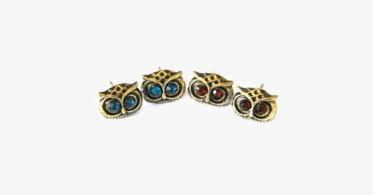 Crystal Owl Earrings - FREE SHIP DEALS