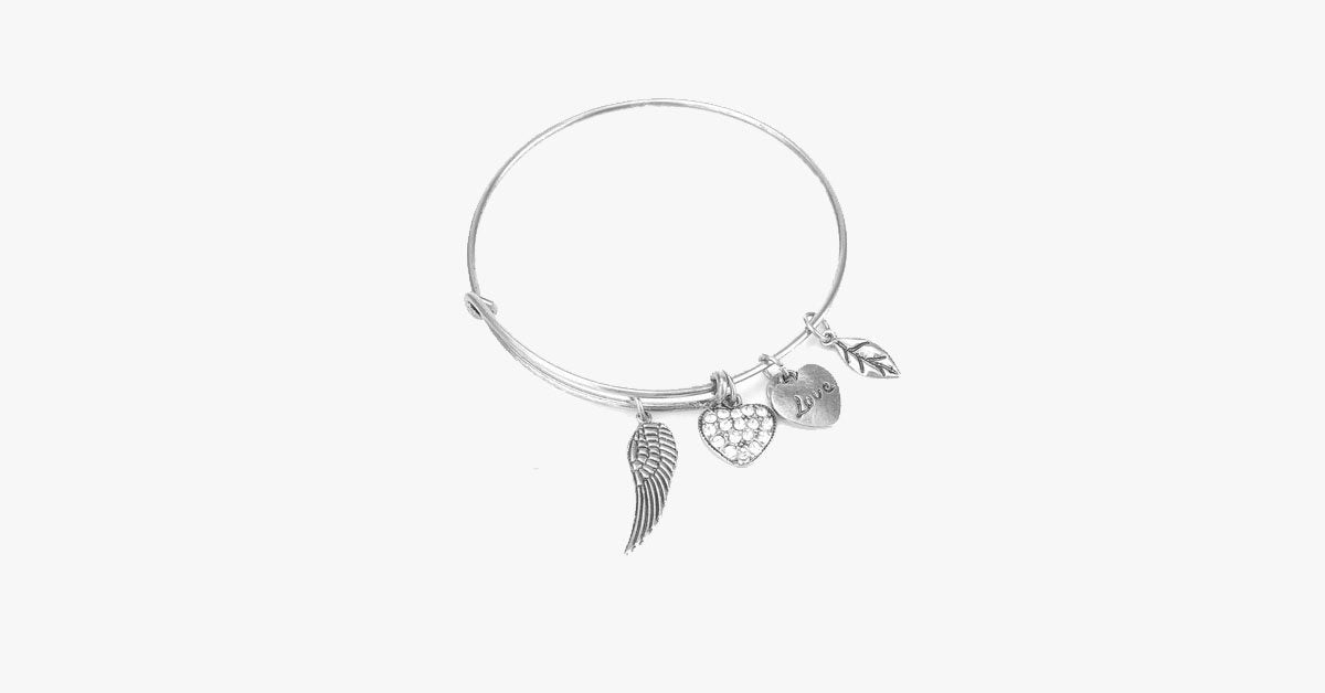 Angel Love Charm Bangle - FREE SHIP DEALS