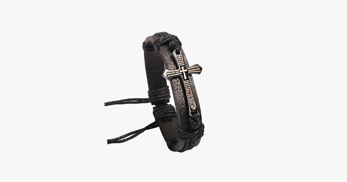 Cross Leather Vintage Bracelet - FREE SHIP DEALS