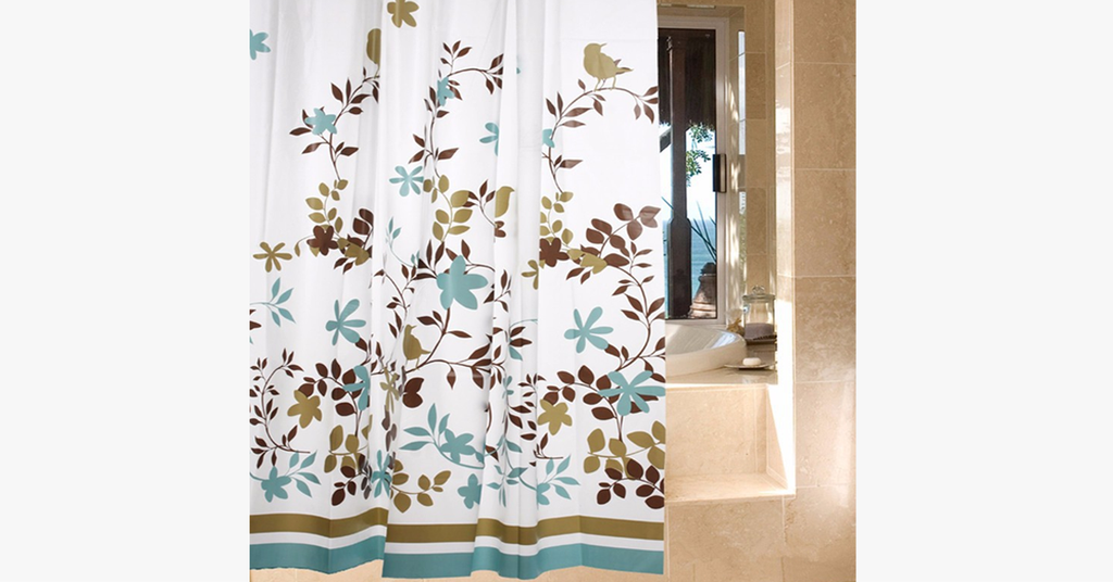 Waterproof Shower Curtain - Bird Design - FREE SHIP DEALS