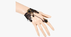 Midnight Lace Ring-to-Wrist Bracelet