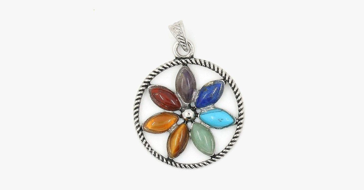 Chakras Natural Stone Pendant Charms - FREE SHIP DEALS