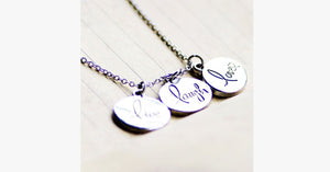 Live Laugh Love Circle Pendant - FREE SHIP DEALS