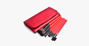 10 Piece Crimson Brush Set - FREE SHIP DEALS