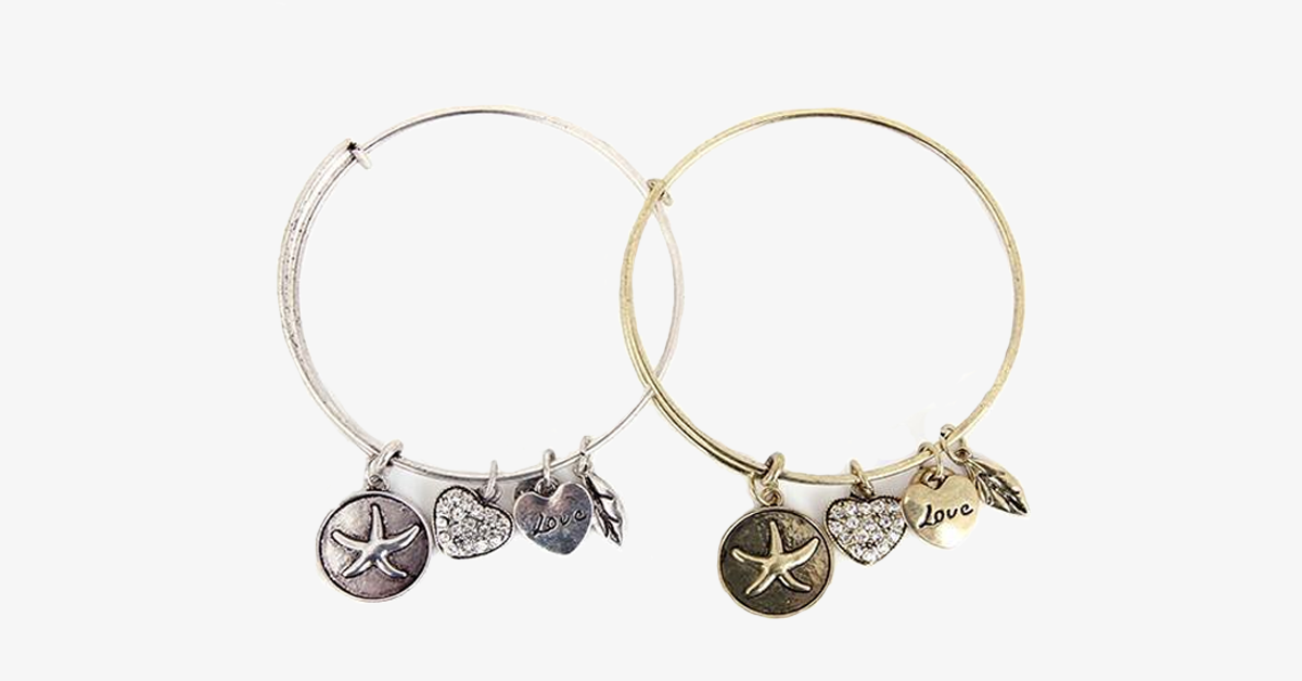 Lucky Star Charm Bangle - FREE SHIP DEALS