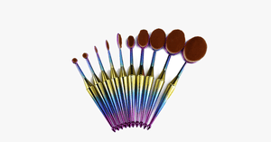 10 Piece Mermaid Oval Brush Set - FREE SHIP DEALS