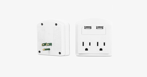 2-Outlet USB Wall Adapter - FREE SHIP DEALS