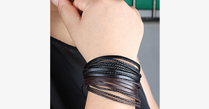 Rustic Leather Wrap Bracelet