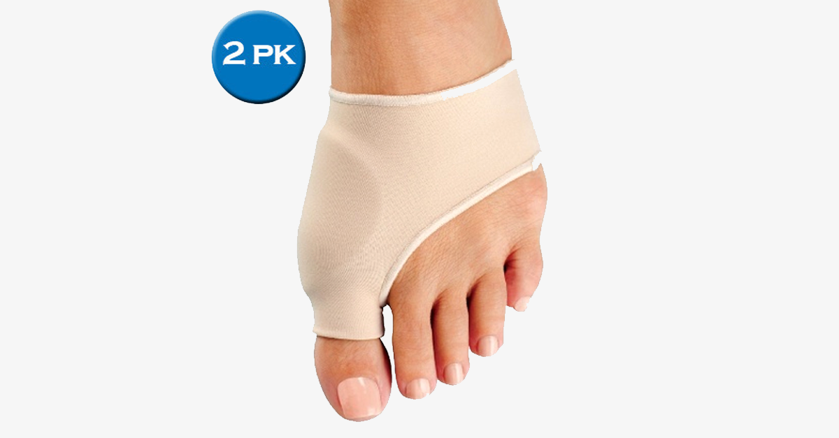 2 Pack: Bunion Protector and Detox Sleeve with Euro Natural Gel - FREE SHIP DEALS