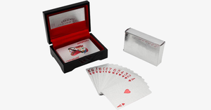 Silver Plated Playing Cards - FREE SHIP DEALS