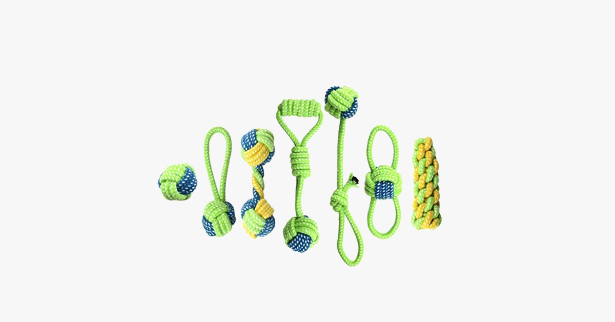 Interactive Pet Chewing Rope Ball
