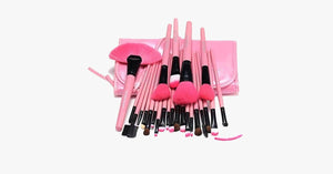 24 Piece Pink Glory Brush Set - FREE SHIP DEALS