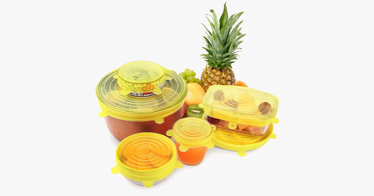 Reusable Food and Container Lids - 6pcs