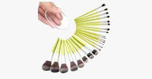 23 Piece Nylon MakeUp Brush Set with a Silicone Sponge - FREE SHIP DEALS