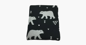 Polar Bear Throw Blanket and Cushion Set