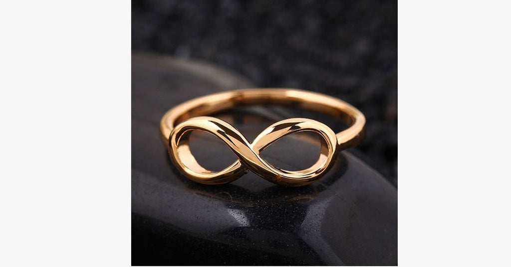 18k Gold Plated Infinity Ring - FREE SHIP DEALS