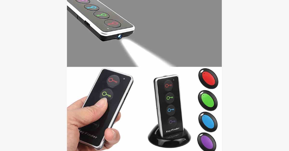 Wireless 4-in-1 LED Remote Key/Wallet Anti-Lost Transmitter Set - FREE SHIP DEALS